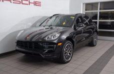 2017 Black Porsche Macan Turbo 4